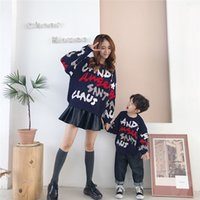 Wholesale angora pullover sweater resale online - 2019 Children s Garment Trendy Christmas Theme English Angora Package Core Yarn Loose Sweater children dresses Pullover