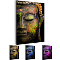 Wholesale buddha paintings living room for sale - Group buy Unframed Panel Large HD Printed Canvas Print Painting Zen Watercolor Buddha Head Home Decoration Wall Pictures for Living Room Wall Art on