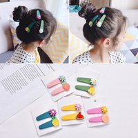 Wholesale south korean jewelry accessories resale online - Korean Cute Fruit Vegetable Hairpin Bee Candy Sweet Daisy Flower Hairpin Clip Bangs Hair Accessories Clips Hairwear Barrettes Jewelry Set