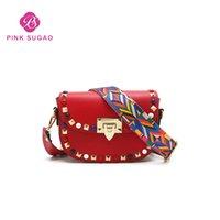 Wholesale saddle color resale online - Pink sugao designer luxury handbags purse designer shoulder bag new fashion crossbody bags hot sales flap small bag color wholesales