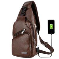 черная кожаная праща оптовых-Мужские сумки на ремне мужчины грудь сумка слинг кожаные сумки черный Crossbody сумки для мужчин Мужской слинг сумка повседневная сумка MMA1360 50 шт.