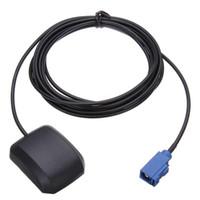 gps anten kabloları toptan satış-Vehemo ABS Siyah GPS Nav Anten GPS DVD Anten Araç Navigasyon Cts Nav DVD Adaptör Kablosu