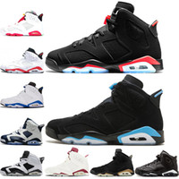Wholesale peach basketball shoes resale online - 6 s Infrared Reflective Basketball shoes men top Olympic Oreo Sport Blue DMP Angry bull White Athletic Desinger Sneakers