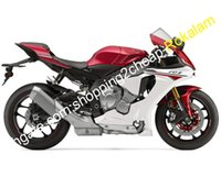 yamaha yzf r1 al por mayor-Accesorios de motocicleta para Yamaha YZF R1 2015 2016 YZF1000 15 16 YZF-R1 YZFR1 Rojo Color blanco ABS Sportbike Kit de carenado (moldeo por inyección)