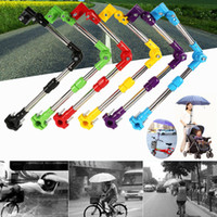 sonnenschirme für kinderwagen großhandel-Schirmständer Einstellen Kinderwagen Unterstützung Struktur Baby Auto Fahrradhalter Kunststoff Kinderwagen Kinderwagen Schirmstange Stretch Ständer HH7-1927
