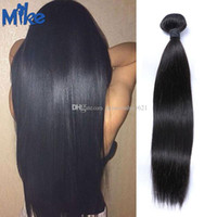 Wholesale malaysian human hair for weaving for sale - Group buy MikeHAIR Brazilian Hair Straight Piece Natural Hair Extensions no tangle no shedding Peruvian Indian Malaysian Human Hair Weave for women