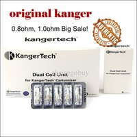 Wholesale emow kangertech aerotank for sale - Group buy 100 Authentic Kanger New Dual Coil replacement coils For Kangertech Aerotank genitank Glass Protank Mini EMOW evod Christmas big sale