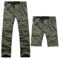 съемные шорты мужские оптовых-Quick Dry Men's Outdoor Hiking Pants Detachable Shorts Breathable Quick Dry Trekking Camping Trousers Hiking Pants S-XXXL