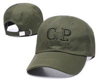 sombrero de enfriamiento negro al por mayor-2020 sombrero de la nueva marca CP COMPANY Street Dance COOL CAPS Hip Hop de la Cruz Roja bordado Negro Snapback encajan a presión detrás de los hombres de béisbol sombreros de los casquillos del sombrero del hueso