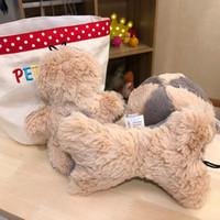 cachorros de oso de peluche al por mayor-Teddy Toy Talking Toys Pet Molar Plush Spherical Toys Pomeranian Bear Puppy Bone Grilling Toy Sets