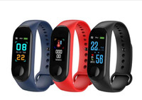 Wholesale android cell phone watch waterproof for sale – best M3 Smart Bracelet Fitness Tracker Heart Rate Watch Wristband Blood Pressure Smart Wristbands with retail box for cell phones