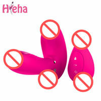 Wholesale wireless butterfly vibrators resale online - Hieha Sex Toys for Woman Magic Wand G spot Vibrator Wireless Remote Control Butterfly Vibrators Charging Vibrating Body Massager