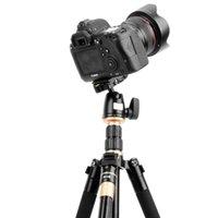 plaque de dégagement rapide de caméra vidéo achat en gros de-2019 professionnel extensible QZSD Q555 55,5 pouces en alliage d'aluminium caméra trépied vidéo monopode avec support de plaque de dégagement rapide DHL