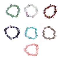 Wholesale red natural stones bracelets resale online - natural gravel Bracelet Color stone Crystal stone Agate stone Lapis lazuli etc Send a friend a birthday present friendship gifts