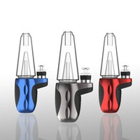 Wholesale smoke electric resale online - DHL Shipping Dab rig Bong Water Pipe New glass bongs thickness Glass for Smoking Cool Design Electric Cigarette USB Charger
