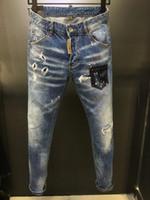 jeans azul oscuro macho al por mayor-Los nuevos hombres delgados de luz Vaqueros Casual Designer Mens flojos Denim Jeans azul oscuro pantalones masculinos pantalones se pueden tamaño recomendado