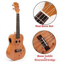 Wholesale guitar hawaii for sale - Group buy Kmise Ukulele Concert Mahogany Ukelele Double Soundhole inch Frets String Hawaii Guitar