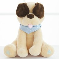 Wholesale baby animal music plush toys resale online - Stuffed Animals Plush Doll Music dog Educational Anti stress Electric toy For Baby Y200111