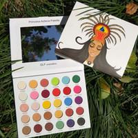 glitter schimmer makeup großhandel-Shimmer Glitter Lidschatten-Palette Matte Lidschatten Kosmetik Make-up-Palette Sombra de Olho Lidschatten-Palette #by