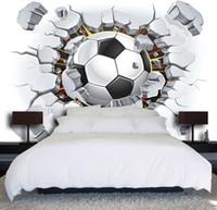 toile à peindre achat en gros de-Auto-adhésif 3D Coupe du monde de football 050 murale Papier peint muraux Imprimer Papiers peints Decal