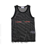 vücut geliştirme giysileri kadınlar toptan satış-Tank Top Erkekler Spor Vücut Geliştirme için Marka Spor Giyim Tasarımcısı Kadın Yelekler Tee Lüks Yaz M-XXL Tops