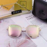 pegatina gafas de sol al por mayor-calidad Lente de vidrio Hombres Mujeres Polit Moda Gafas de sol Protección UV Diseñador de la marca Vintage Sport Gafas de sol Con caja y adhesivo