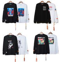 siyah uzun tişörtü toptan satış-Heron Preston T Gömlek Hiphop Giyim Streetwear Erkek Kadın Heron Preston Beyaz Siyah Tee Gömlek Tasarım Uzun Kollu T-Shirt Kulübü CLI0333 Tops