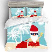 Wholesale queen size 3d bedding set christmas resale online - Christmas Quality D Queen King Size Home Textiles Bed Linen Set Luxury Kid Bedding Set Duvets And Linen Sets Bed Cotton