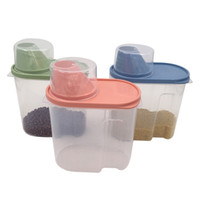 3 Sets Plastics Airtight Canisters,Kitchen Food Saver Storage  Container,Keeps Food Fresh & Dry(Pink,Green,Blue)