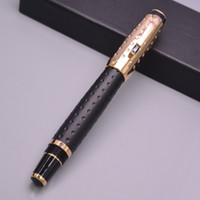 Wholesale gems loose stones resale online - High Quality Monte Silver Gold Metal Fountain Pen With Gem Stone K Nib Office School Stationery Brand Classic Ink Pen