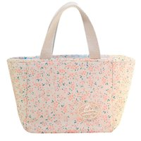 Wholesale canvas floral lunch bag for sale - Group buy Multi style Simple Lunch Bag Canvas Creative Stars Floral Print Thermal Insulation Warm Portable Lunch Bag For Women Kids Men