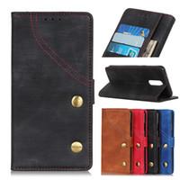 oppo fallabdeckung flip großhandel-Denim Textur Brieftasche Fall für Oppo Realme 3 2 C2 X A5 A7 Flip Cover Fall für Oppo RENO 5G 10X K1 K3 R17 NEO AX5 AX5S F11 Pro A1K Telefon Fall