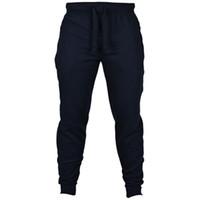 calças de jogging chinos venda por atacado-2019 Corredores Calças Chinos Skinny Joggers Camuflagem Homens Nova Moda Harem Pants Calças Cor Longa Sólida Calças Dos Homens atacado