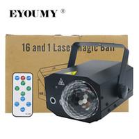 ingrosso sfera magica principale controllata dal suono-Eyoumy 16 in 1 modello 10W LED Bar KTV Stage Light Laser Magic Ball Light Controllo del suono Auto telecomando 2 colori opzione