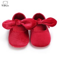 Wholesale infant toddler dress shoes for sale - Group buy Newborn Baby Girl Princess Shoes First Walker Infant Baby Toddler Girl Dress Shoes Bowknot Red Prewalker For