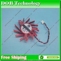 ventilateur 12v 2wire achat en gros de-Nouveau POWER LOGIC PLB05710S12HH 50mm 27mmx35mmx35mm 12V 0.30A 2Wire pour ventilateur ATI HD5550 HD5570 HD5670 V4800