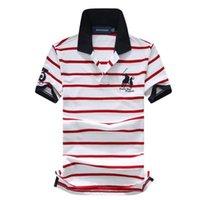 t-shirts ralph großhandel-Ralph Polo Lauren T-Shirt Herren Polo Shirt Outdoor Freizeit Top Polo Baumwolle gestreiften Tee Revers Golf Polo Shirts Qualität Mann Luxus T-Shirts