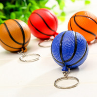 Wholesale sports souvenirs keyring for sale - Group buy New Fashion Sports PU Mini Basketball Keychains Plastic Key Ring Football Basketball Golf ball Phone Pendant Keyring Souvenirs LJJZ652