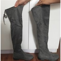 Wholesale thigh bands resale online - suede Sexy Thigh Overlength Overknee Platform High Woman Elastic boots