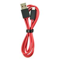 красные беспроводные наушники оптовых-Зарядное устройство Micro USB Кабель для замены динамика Удлинительный кабель Wireless для V2 Studio Наушники Красный 300шт