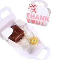 Wholesale baby shower packages resale online - 5pcs Thank You Printed Candy Gift Box Cake Dessert Cookie Gift Package Bag Handbag for Baby Shower Wedding Engagement Party