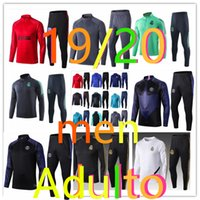 ingrosso abiti da jogging di calcio-tuta 19 20 tuta adult real madrid psg barcelone inter milan ajax soccer training suit kit chándal de fútbol chandal futbol tracksuit jogging football