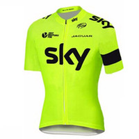 Wholesale cycling clothing spain for sale - Group buy SKY cycling jersey summer short sleeve Breathable spain Racing team Bike Clothing Maillot Ropa Ciclismo Hombre
