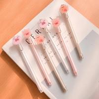 kawaii rosa stift großhandel-36 Stück Gelschreiber Kawaii Small Pink Pig schwarz gefärbte Gel-Tintenschreiber zum Schreiben von Gel Pen Cute Schreibwaren Büro Schulbedarf