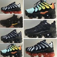 ingrosso scarpe da ginnastica femminile-Nike 2018 TN Air Vapormax Plus Cushion VPM TN Plus Scarpe da corsa Pure Platinum Grape In USA Red Rainbow Silver Bianco Triple Nero Mens Womens Sports kids sneakers di design