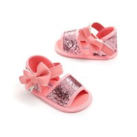 Wholesale baby moccasins for sale - Group buy Summer Baby Shoes Glitter Bowknot Flat Newborn First Walker Shoes Girls Moccasins