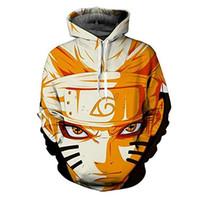 ingrosso cappotto di sasuke-Anime Naruto Sasuke Cosplay Costumi rivestimento del maglione cappotto casuale costumi abbigliamento con cappuccio autunno di modo delle donne di Halloween adulto Uomini