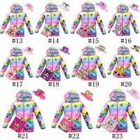 Wholesale hat girls clothes resale online - Surprise Girls Coat Summer Sun Protection Clothing Pieces Set Long Sleeve Hooded Jacket Crossbody Bags Bucket Hats Cartoon Wear C71705