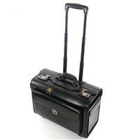ingrosso borse aeree-Retro viaggio suitacse pilota Rolling Luggage Cabin Airline hostess Travel Bag Ruote Valigie Business Trolley Imbarchi