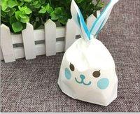 ingrosso migliori regali avvolge-50 pz / set Coniglio sacchetti di Pasqua Nuovo carino coniglietto con le orecchie lunghe Cookie candy bag Spuntino migliore regalo per bambini in magazzino